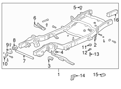 Frame & Components for 2001 Chevrolet Tahoe