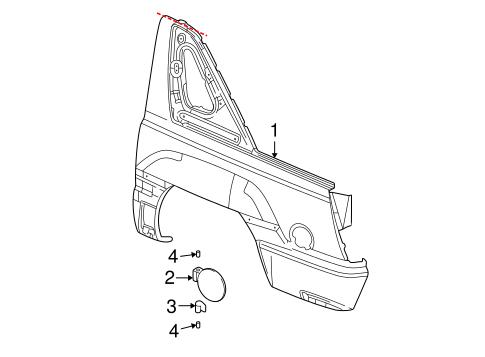 Quarter Panel & Components for 2003 Cadillac Escalade EXT