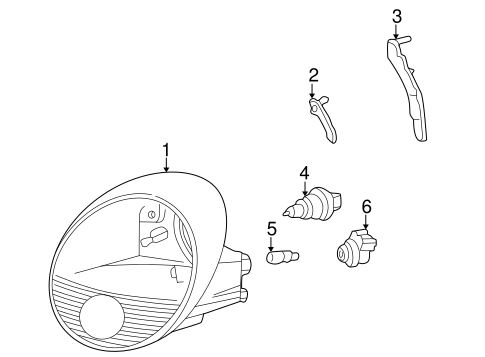 Headlamp Components for 2002 Ford Thunderbird