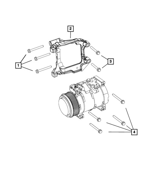 Air Conditioner Compressor and Mounting for 2016 Dodge