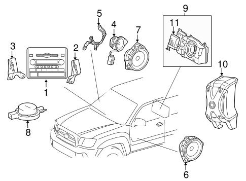 Genuine OEM Sound System Parts for 2006 Toyota Tacoma Base