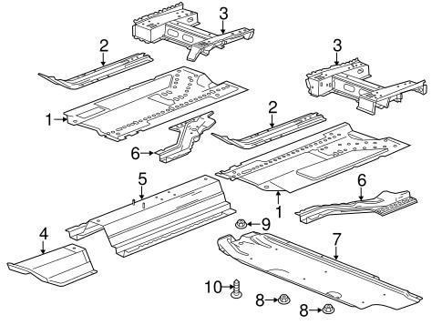OEM 2013 Chevrolet Cruze Floor & Rails Parts