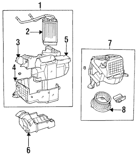 Genuine OEM Heater Parts for 1996 Toyota T100 Base