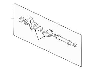 Genuine OEM Shaft Assembly, Half (Mt) Part# 44500-SL0-010