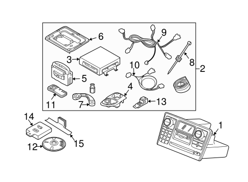 Navigation System Components for 2007 Volvo XC90