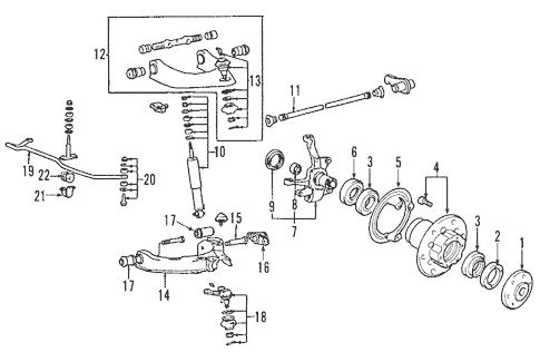 Suspension Components for 1989 Mitsubishi Montero