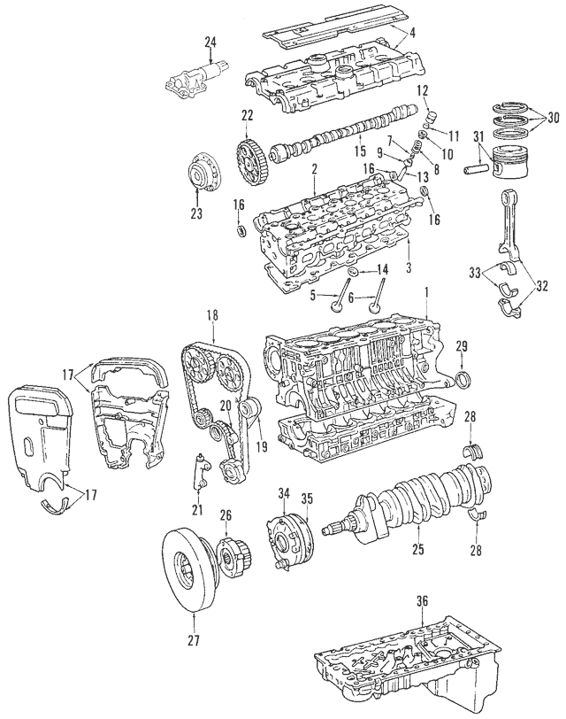 Genuine OEM 1999-2005 Volvo Outer Timing Cover 30637974