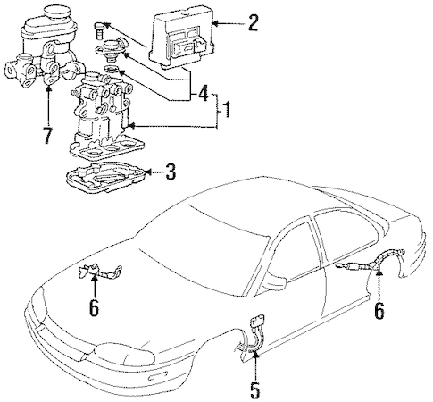 OEM 1999 Chevrolet Lumina Anti-Lock Brakes Parts