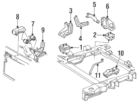Engine & Trans Mounting for 1993 Chevrolet Lumina