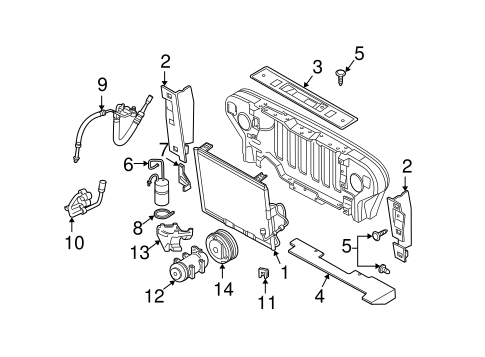 Condenser, Compressor & Lines for 2001 Jeep Wrangler