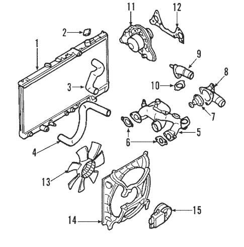 Radiator & Components for 2003 Mitsubishi Eclipse