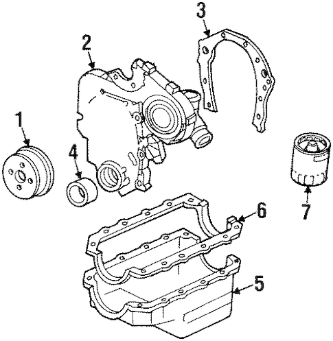 ENGINE PARTS for 1997 Buick Skylark