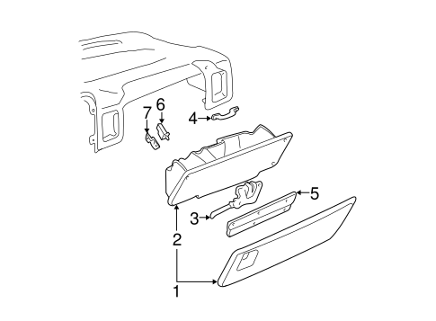 GLOVE BOX for 1999 Chevrolet Silverado 1500
