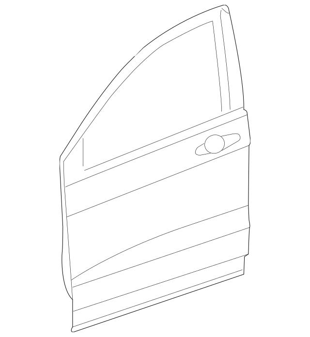 2007-2011 Honda CR-V 5-DOOR Panel, R Front Door (DOT