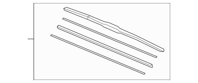Blade, Windshield Wiper (650MM) (Left-Hand)(Driver Side