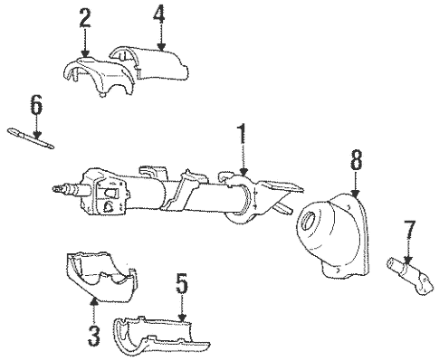 Shroud, Switches & Levers for 1995 Chrysler LeBaron