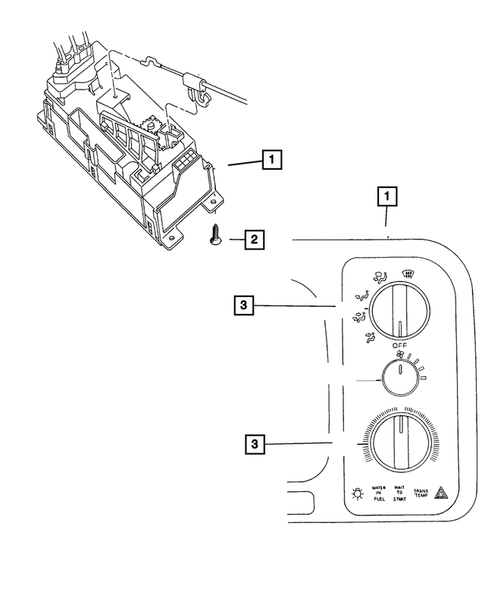 Air Conditioner and Heater Controls for 2001 Dodge Ram