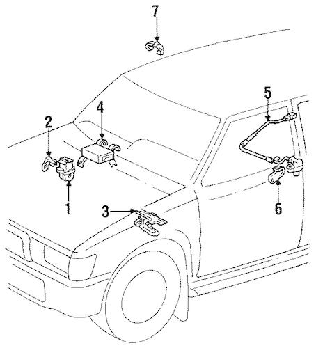 Genuine OEM Anti-Lock Brakes Parts for 1993 Toyota 4Runner