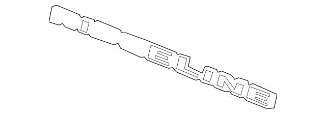 2006-2014 Honda RIDGELINE SEDAN Emblem, Rear (Ridgeline