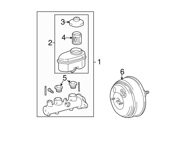 Genuine Toyota 47201-33400 Brake Master Cylinder Sub Assembly