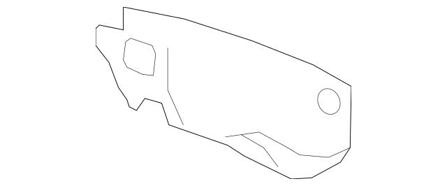2007-2009 Acura MDX 5-DOOR Insulator, Dashboard (Lower