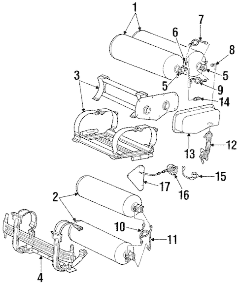 FUEL SYSTEM COMPONENTS for 2001 Ford Crown Victoria