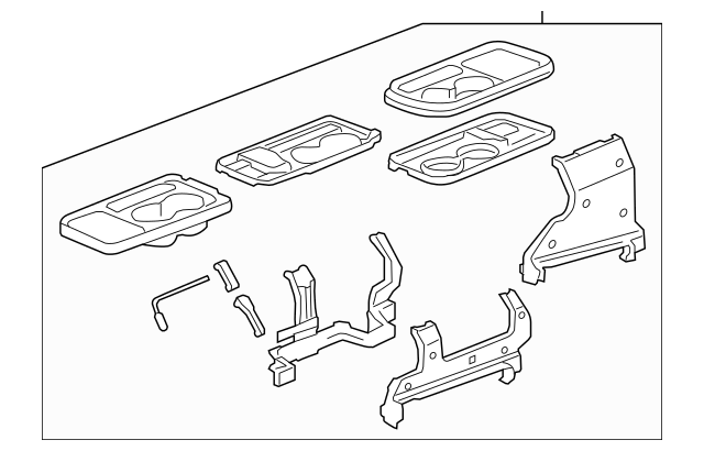 Genuine 2005-2006 Honda CR-V 5-DOOR Table Assembly, L