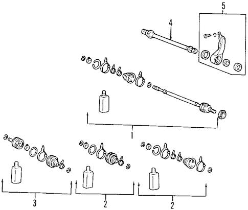 Tucson Front Drive Axle/Axle Shafts & Joints Parts