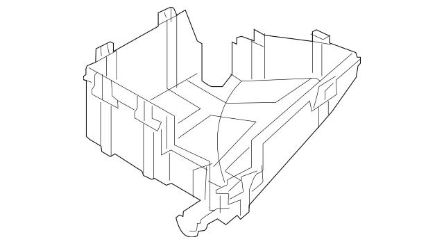 2017-2021 Kia Sportage Fuse & Relay Box Lower Cover 91950