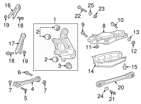OEM 2013 Cadillac ATS Rear Suspension Parts