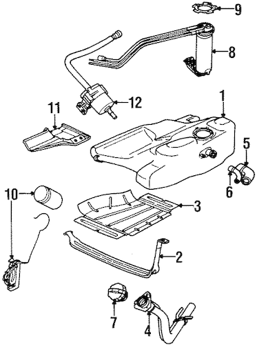 OEM FUEL SYSTEM COMPONENTS for 1997 Saturn SC2