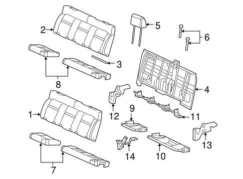 Rear Seat Components for 2008 Ford F-150