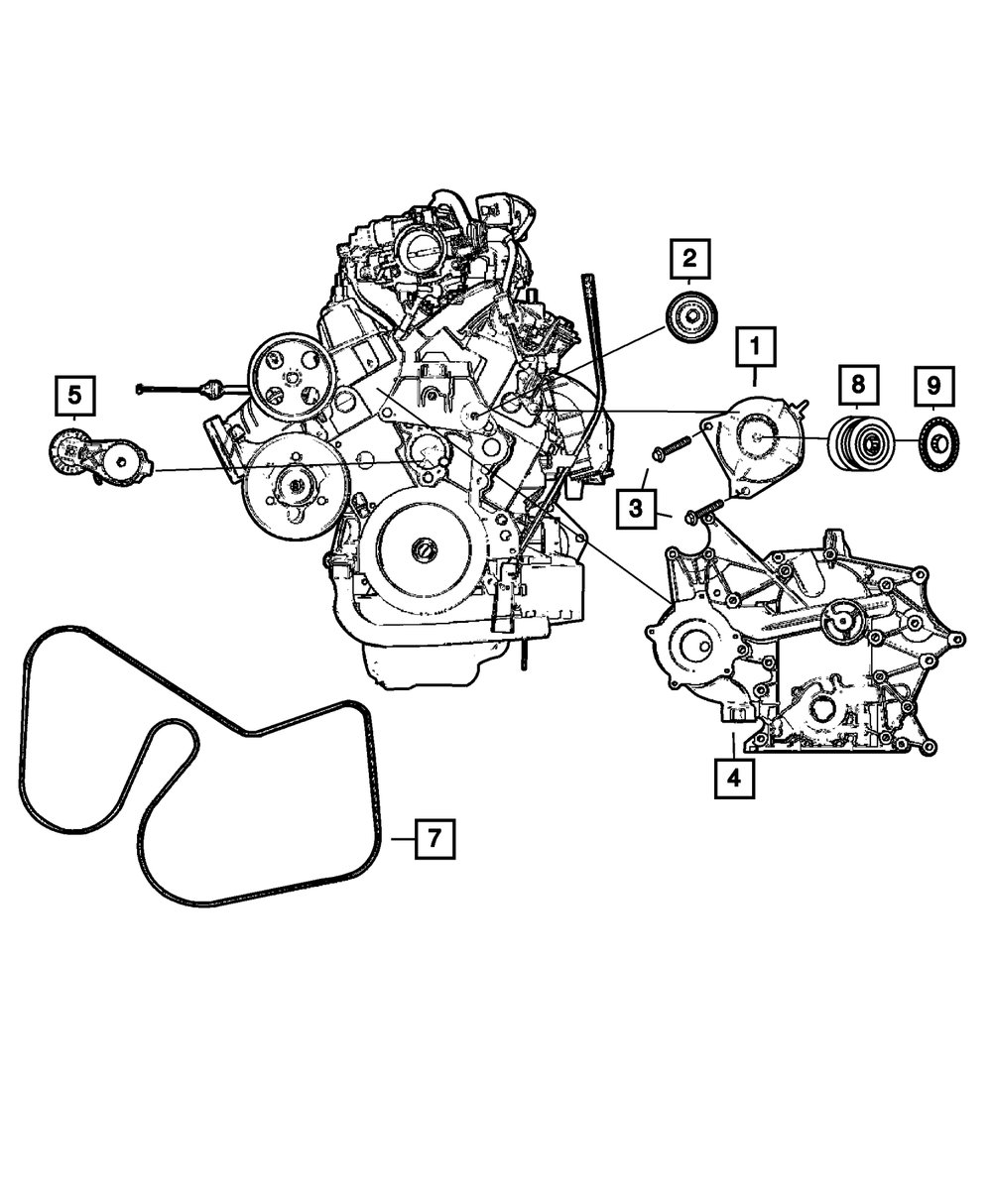 2007-11 JEEP WRANGLER WITH NO A/C Serpentine Belt OEM