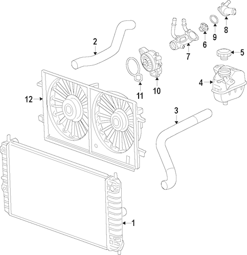 RADIATOR & COMPONENTS Parts for 2011 Chevrolet Malibu
