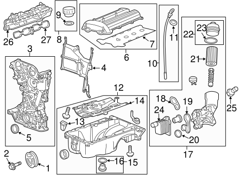 ENGINE PARTS for 2014 Buick Encore