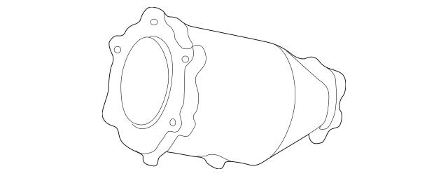 2002-2004 Nissan Pathfinder Catalytic Converter B08A1