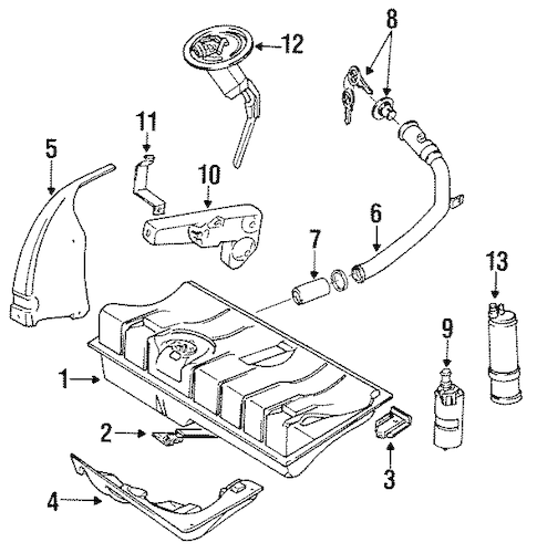 OEM VW Fuel System Components for 1992 Volkswagen