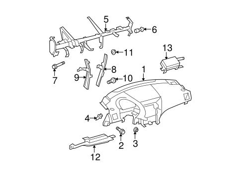 Genuine OEM Instrument Panel Parts for 2008 Toyota