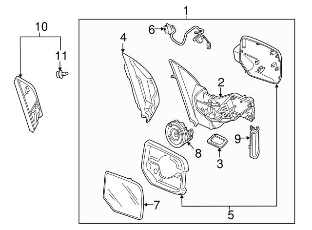 2010-2015 Honda Pilot Mirror Assembly, L Door *NH731P*(R.C