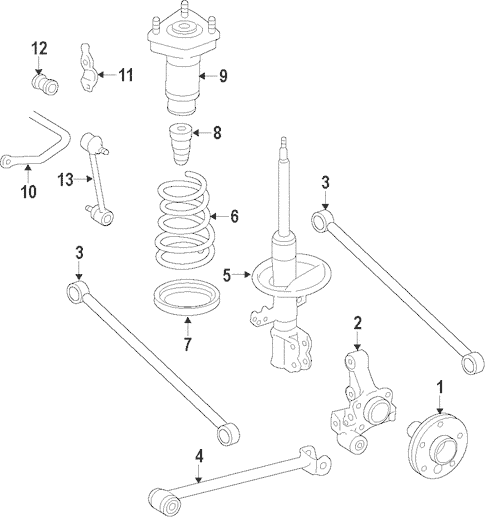 Genuine OEM Rear Suspension Parts for 2000 Toyota Avalon