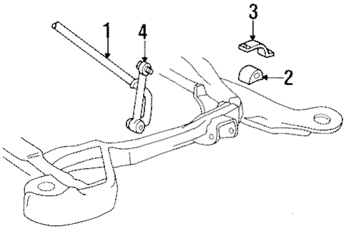 OEM Stabilizer Bar & Components for 1999 Cadillac DeVille