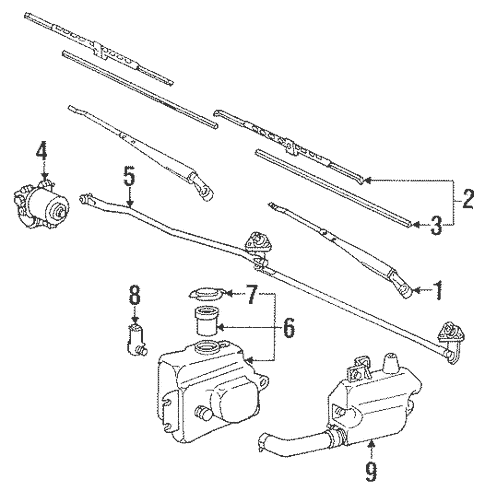 Genuine OEM Wiper & Washer Components Parts for 1994