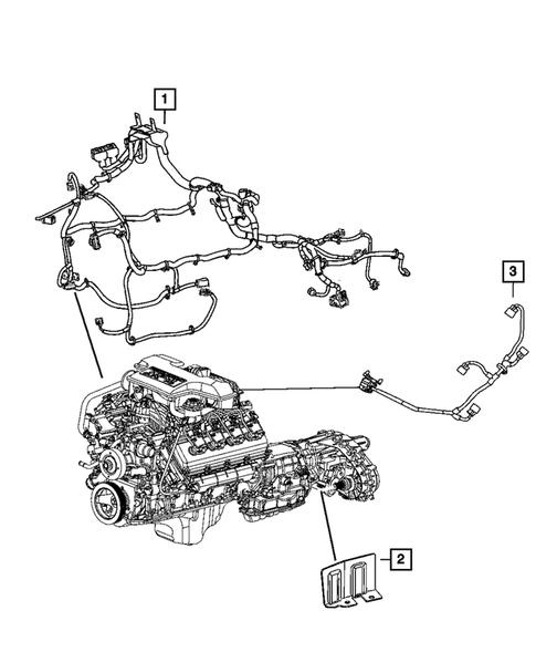 Wiring-Engine & Related Parts for 2007 Chrysler Aspen