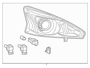 2013-2015 Nissan Altima Headlamp Assembly 26010-3TA9A