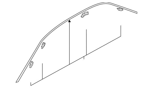 Genuine OEM Drip Molding Part# MR520287 Fits 2002-2007