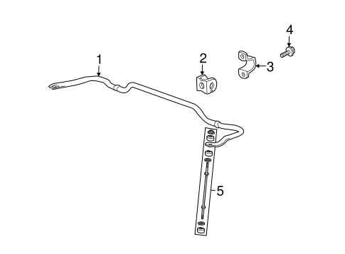 Stabilizer Bar & Components for 2009 Saturn Outlook