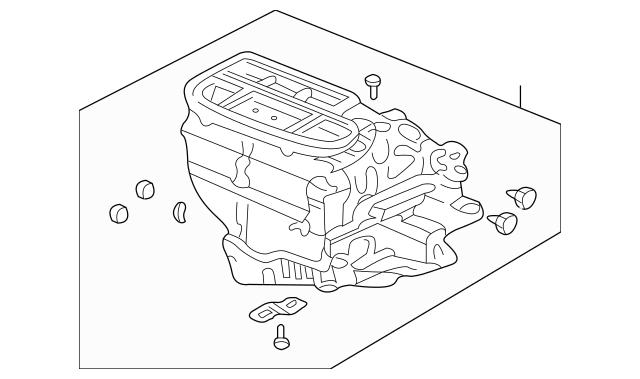 2003-2008 Honda ELEMENT 5-DOOR Sub-Heater Unit 79106-SCV
