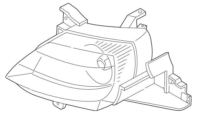 2002-2003 Mazda MPV Headlamp Assembly LD47-51-0K0C