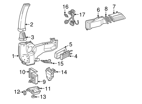 Evaporator & Heater Components for 1994 Ford E-350
