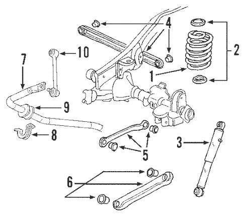 OEM 2007 GMC Yukon XL 1500 Rear Suspension Parts